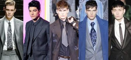 мода на короткие галстуки