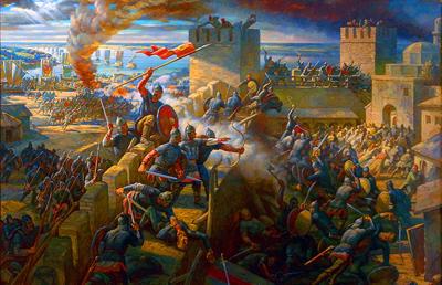 крестоносцы у стен Константинополя